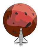 Космический полет повреждает Стоковая Фотография RF