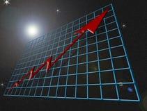 космический финансовохозяйственный рост Стоковая Фотография RF