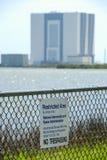 Космический центр Кеннеди запретный зона Стоковое фото RF