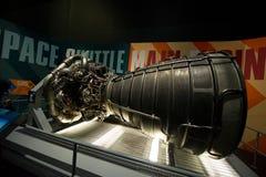 Космический центр NASA Кеннеди ракетного двигателя космического летательного аппарата многоразового использования Стоковые Фотографии RF