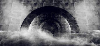 Космического корабля коридора дыма Grunge тоннеля этапа лазера Sci Fi конкретного накаляя чужеземец 3D дуги футуристического бело бесплатная иллюстрация