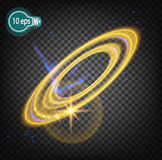 Космическое зарево, венчик Кольца Сатурна Стоковое Фото