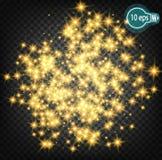 Космическое зарево, звезда рождества В дистантном космосе Дизайн концепции для межзвёздных облаков звезды изолированных на прозра Стоковые Изображения RF