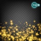 Космическое зарево, звезда рождества В дистантном космосе Дизайн концепции для межзвёздных облаков звезды изолированных на прозра Стоковые Изображения