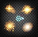 Космическое зарево, звезда рождества В дистантном космосе Дизайн концепции для межзвёздных облаков звезды изолированных на прозра Стоковая Фотография