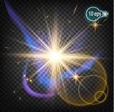 Космическое зарево, звезда рождества В дистантном космосе Стоковые Фото
