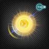 Космическое зарево звезды солнца В дистантном космосе Стоковые Изображения RF