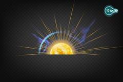 Космическое зарево звезды солнца В дистантном космосе Стоковое Изображение RF