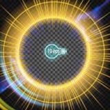 Космическое зарево звезды солнца В дистантном космосе Стоковое фото RF