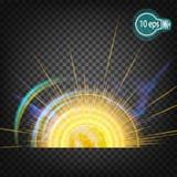 Космическое зарево звезды солнца В дистантном космосе Стоковая Фотография