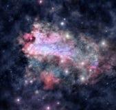Космическое межзвёздное облако Стоковые Фотографии RF
