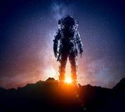 космическое пространство астронавта Мультимедиа стоковое изображение