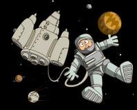 космическое пространство астронавта иллюстрация вектора
