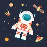 космическое пространство астронавта Стоковое Изображение