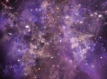 Космическое пространство неба звездной ночи глубокое иллюстрация вектора