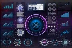 Космическое пространство предпосылки Hud элементы infographic Цифровые данные Стоковая Фотография RF