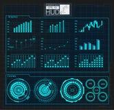 Космическое пространство предпосылки Hud элементы infographic Цифровые данные, предпосылка дела абстрактная элементы infographic Стоковые Фотографии RF