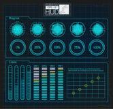 Космическое пространство предпосылки Hud элементы infographic Цифровые данные, предпосылка дела абстрактная элементы infographic  Стоковое Изображение RF