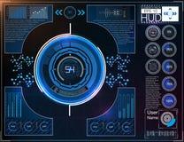 Космическое пространство предпосылки Hud элементы infographic Цифровые данные, предпосылка дела абстрактная элементы infographic Стоковые Фото