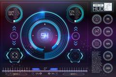 Космическое пространство предпосылки Hud элементы infographic Стоковые Изображения RF