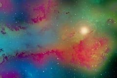 Космическое пространство с звездами, образования облака стоковое изображение