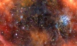 космическое пространство nebula газа облака глубокое иллюстрация штока