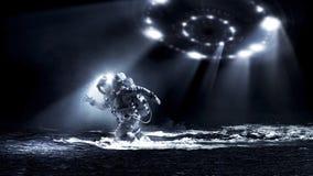 Космонавт бежать быстрое мультимедиа стоковая фотография rf