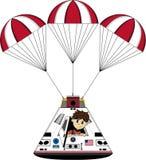 Космонавт и космическая капсула астронавта Стоковые Изображения