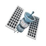 Космонавт шаржа - illustation для детей Стоковое фото RF