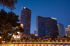 Космополитическая гостиница Лас Вегас Боулевард стоковое изображение rf