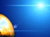 космос абстракции иллюстрация вектора