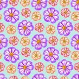 космос Безшовная текстура картины цветков предпосылка флористическая Стоковое Изображение RF