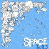 Космос возражает doodles Стоковые Фотографии RF