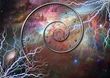 Космос времени иллюстрация вектора
