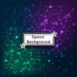 Космос вселенной играет главные роли иллюстрация вектора предпосылки галактик абстрактная Стоковое фото RF