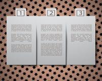 Космос вырезывания бумажный для текста на предпосылке Стоковое Изображение RF