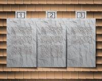 Космос вырезывания бумажный для текста на предпосылке Стоковое Изображение