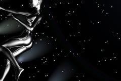 космос девушки Стоковые Изображения