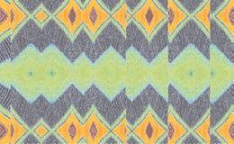 Космос желтого зеленого цвета первоначально картины геометрический стоковое фото rf
