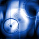 Космос, звезды и лучи в голубых оттенках Стоковое Изображение