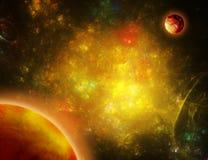 космос золота Стоковая Фотография RF