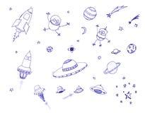 космос иконы установленный Стоковые Фото