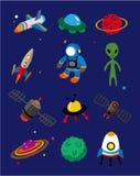 космос иконы шаржа Стоковое Фото