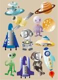 космос иконы шаржа Стоковое фото RF