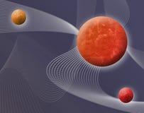 космос иллюстрации 3d Стоковые Изображения RF