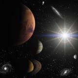Космос и время Стоковые Изображения RF