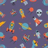 космос картины безшовный Стоковая Фотография RF