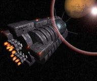 космос корабля Стоковое Изображение