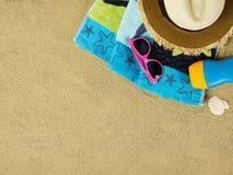 космос места экземпляра пляжа Стоковая Фотография RF