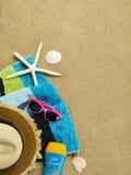 космос места экземпляра пляжа Стоковое Изображение RF
